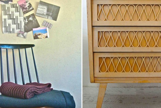 Textil and sideboard